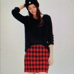 Madewell Plaid Skirt
